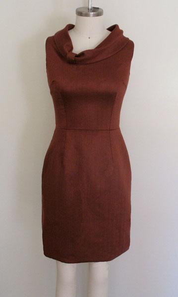 rust-chevron-dress